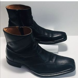 Aldo VERA PELLE  Black Leather Men  Boots